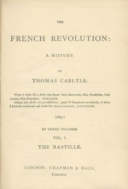 Title page of Thomas Carlyle's The French Revolution