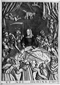 Copper engraving of Olof Rudbeck
