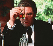 Albert Finney as the consul in Under the Volcano