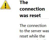 Computer error messsage
